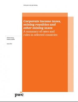 Корпоративни данъци върху приходите, минни роялти и други минни такси (корица)